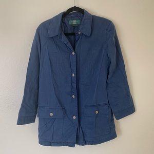 Vintage Orvis fishing jacket size medium blue